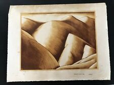 Stanley Huber Wood, Collectible Antique Color Lithograph Of Hills, 1932