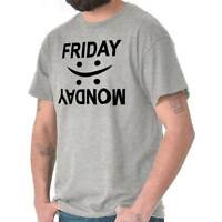 Friday Work Week Bored Monday Sucks Weekend Crewneck T Shirt Tee Men or Women