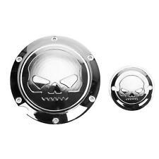 Skull Derby Timing Timer Cover For Harley Davidson Sportster 883 1200 Chrome