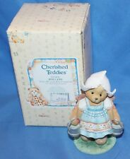 Cherished Teddies Katrien Holland Tulips Blossom. Figurine # 202401 1996 Enesco