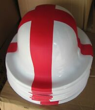 72 x England Hat St. George plastic bowler hat football rugby fancy dress stag