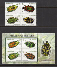 Philippine Stamps 2010 Beetles found in the Philippines, Complete set MNH