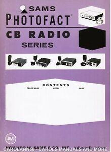 SAMS PHOTOFACT CB #130 Gemtronics Midland RCA SBE