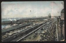 Postcard MONTREAL Quebec/CANADA Harbor Railroad & Ship Yard Docks Aerial view 07