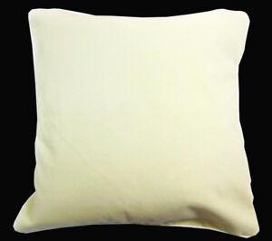 Mb52a Ivory/Beige Flat Velvet Style Cushion Cover/Pillow Case *Custom Size*
