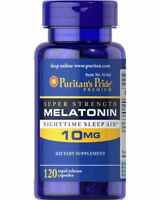 Puritan's Pride Melatonin 10 mg Night Time Sleep Aid 120 Capsules MADE IN USA