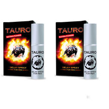2 x LUBRIFICANTE TAURO EXTRA FORTE SPRAY RITARDANTE CONTRO EIACULAZIONE PRECOCE