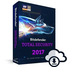 Bitdefender TOTAL SECURITY 2017, 10 Multi-Devices 1 Year LATEST DOWNLOAD VERSION