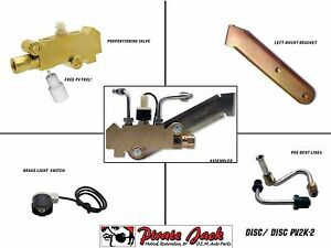 "Disc Drum Prop Valve / Combination Valve Kit For Left Mount, Lines 9/16"" & 1/2"""