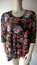 MILLERS NEW WOMENS SIZE 16 FLORAL PRINTED HANKY HEM TUNIC RRP $30.00