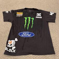 Ken Block 43 Monster Energy Rally Car Driver DC Sports T Shirt Mens Medium