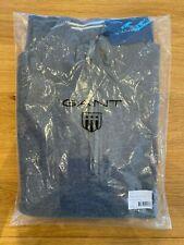 GANT Super Fine Lambswool Half-Zip Sweater Dark Grey - Size XXL - NEW - RRP £120