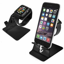 Apple Watch & iPhone Stand Holder Docking Station in Black by Orzly®