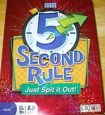 FIVE 5 Second Rule! Just Spit It Out! 100% complete! MINT CONDITION! PATCH