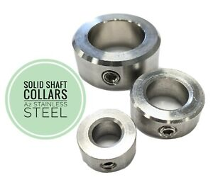 Shaft Collars Solid A1/A2 Stainless Steel Metric 4mm To 90mm  * DIN705