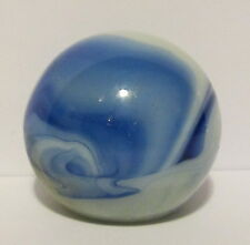 1930's AUTO GEAR SHIFT KNOB MARBLED RARE COBALT BLUE SWIRL GLASS VERY NICE !