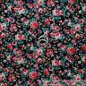 BonEful Fabric FQ Cotton Quilt VTG Black Red Rose Calico Flower Shabby Chic Xmas