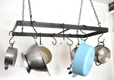 Pot Rack, Hand Crafted, Ceiling Heavy Duty, Iron, Metal