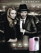 Publicité advertising 2010 GIVENCHY parfum PLAY elle  & lui JUSTIN TIMBERLAKE