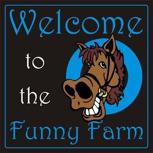 "FUNNY FARM SIGN GARDEN DECORATIVE plaque door sign FUNNY GIFT IDEA 12"" x 12"" fun"