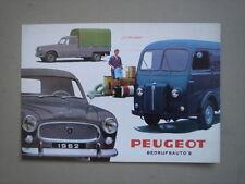 PEUGEOT   Commercial vehicles  brochure/Prospekt  1962.