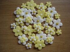 lemon / white edible flowers for  cupcake / cake decorations
