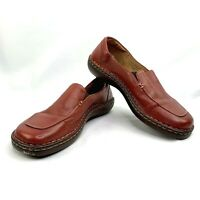 Born Women's Size US 9/ EUR 40.5 M/W Red Leather Loafer Slip-On Loafer W-0876