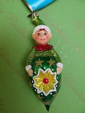 Christopher Radko Disney Peter Pan Green Glass Ornament