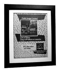PIL+PUBLIC IMAGE+ROTTEN+Tokyo+POSTER+AD+ORIGINAL 1983+FRAMED+EXPRESS GLOBAL SHIP
