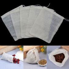 "100pcs 3x4"" Resuable Cotton Muslin Drawstring Mesh Soap Bath Bags Herbs Tea Bag"