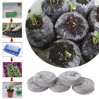 5/20/100Pcs 30Mm Jiffy Peat Pellets Seed Starting Plugs Seeds Seedling Soil * FE