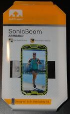 NEW Nathan SonicBoom Armband for Galaxy S4, Black/Lime Green, Phone, running