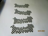 Vintage Fremont Black & White Checkered Bicycle Stickers Decals Lot of 4