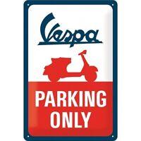 Vespa Roller Parking Only Nostalgie Blechschild 30 cm NEU  shield