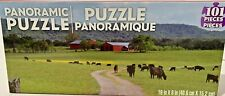 Panoramic Farmyard Cow Puzzle 101 Pieces New Sealed