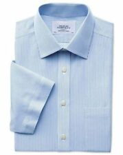 Short Sleeve Classic Fit Formal Shirts for Men with Non Iron