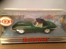 "MATCHBOX Dinky dy-1 -- 1968 JAGUAR ""e"" tipo SOFT TOP-tetto alto-Verde"