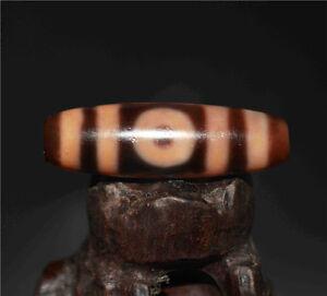old tibetan dzi bead 3 eyes agate genuine pure three eyed antique gzi amulet