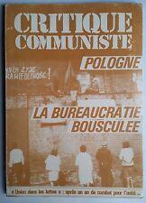 Revue Critique de la ligue Communiste Révolutionnaire du 10/1980