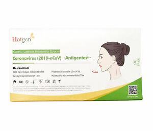 HOTGEN® Antigen-Test Kit Schnelltest Laientest für zu Hause gem. BfArM Corona (2