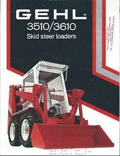Equipment Brochure - Gehl - 3510 3610 - Skid Steer Loader - c1981 (E4861)