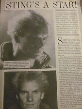 The Police, Sting, Full Page Vintage Clipping