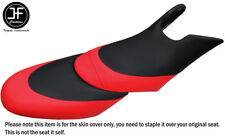 BLACK B RED CUSTOM FITS SEADOO 02-06 GTX DI 4-TEC FRONT + REAR VINYL SEAT COVERS