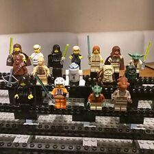 Lego Star Wars 16 Figuren Luke Ewoks Yoda R2-D2 Obi Wan Qui Gon Jinn Chewy Wald