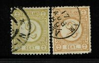 Netherlands SC# 36 and 36a, Used, 36a with few short perfs - Lot 052117