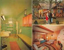Hotel Cabin Multiview Exterior Interior Bi-Fold Vintage Postcard J76874
