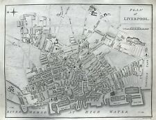 1795 Antique County Map; Plan of Liverpool