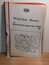 BUKH Diesel marine engine DV 36 & DV 48 Work shop Manual