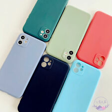 iPhone 11 Pro Max Case Pure Color Soft Full Cover iPhone 6 7 8 SE XR XS Max Case