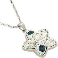 Star Necklace Pendant Charm Wedding Party Valentine's Day Jewelry White Enamel